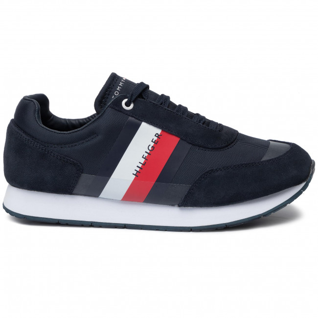 a002640f25 Sneakers TOMMY HILFIGER - Corporate Mix Flag Runner FM0FM02379 Midnight 403