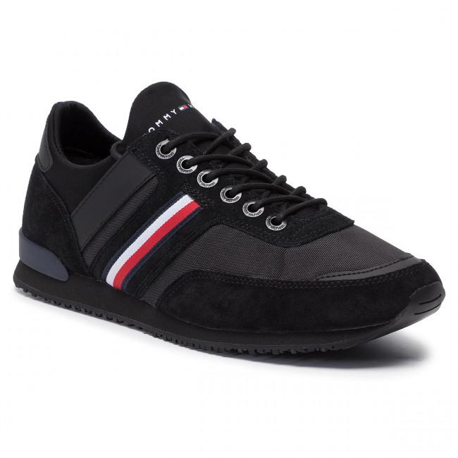fc8cb84b44 Sneakers TOMMY HILFIGER - Iconic Sock Runner FM0FM02409 Black 990