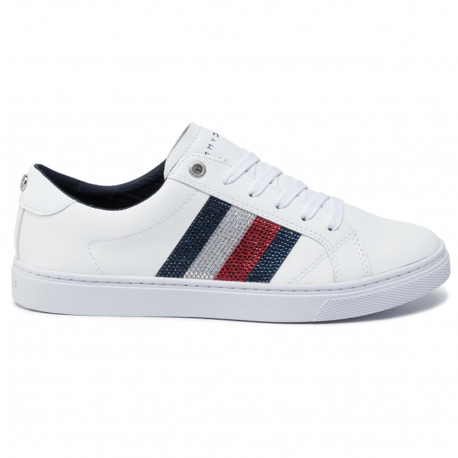 Sneakers TOMMY HILFIGER Crystal Leather Casual Sneaker FW0FW04299 White 100