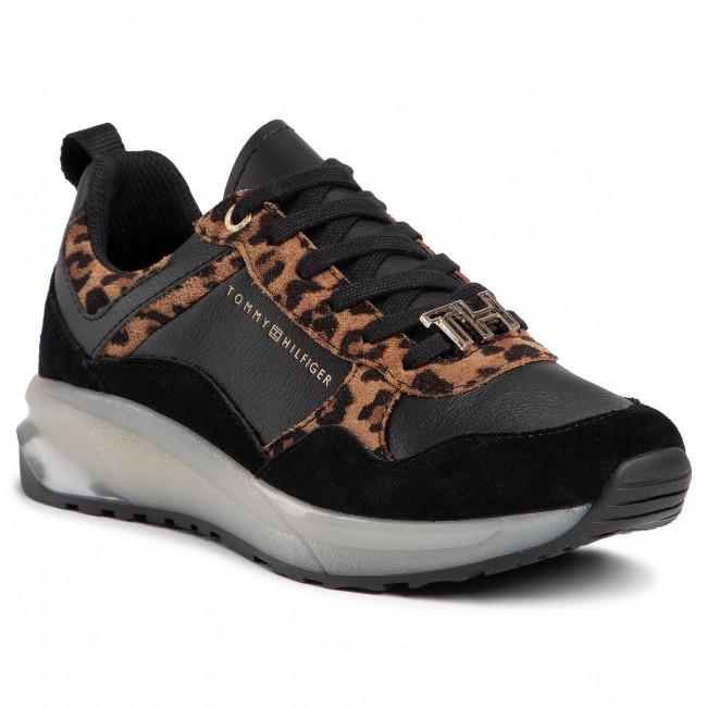 Tommy Hilfiger Leo Print Sneaker, Scarpe da Ginnastica Basse