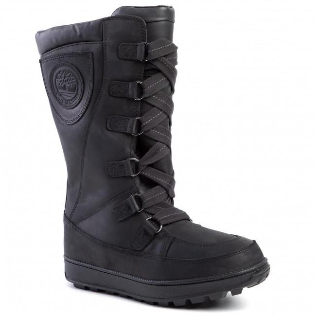 Stivali da neve TIMBERLAND Mukluk 8 In Waterproof Boot TB02092R0011 Black Full Grain