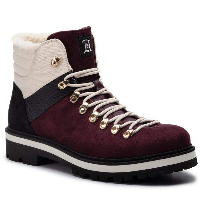 Hiking Boots TOMMY HILFIGER LEWIS HAMILTON Expedition Trail Boot FM0FM02526 Cabernet GHB