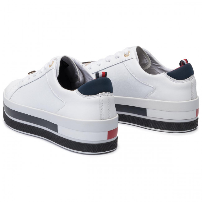 Sneakers TOMMY HILFIGER Th Hardware Flatform Sneaker FW0FW04295 White 100