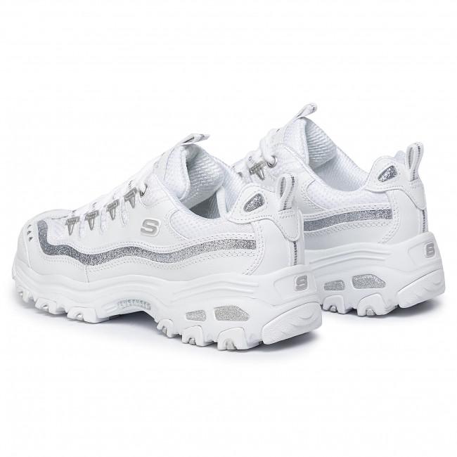 Sneakers SKECHERS D'lites Now&Then 11923WSL WhiteSilver