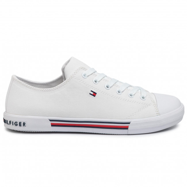 White TOMMY HILFIGER Low sneakers LOWCUT ESSENTIAL