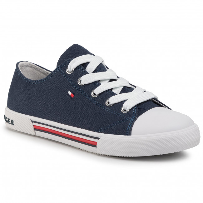 Scarpe da ginnastica TOMMY HILFIGER - Low Cut Lace-Up Sneaker T3X4-30692-0890 S Blue 800