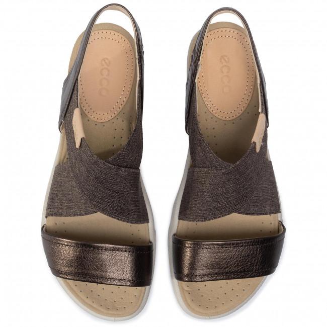 Sandali ECCO - Damara Sandal 24822350533 Licorice/Powder - Sandali da giorno - Sandali - Ciabatte e sandali - Donna