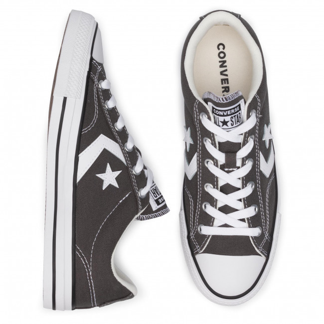 Ginnastica Uomo Basse Da black white 165462c Scarpe Carbon Grey Star Player Ox Converse W9IDH2E