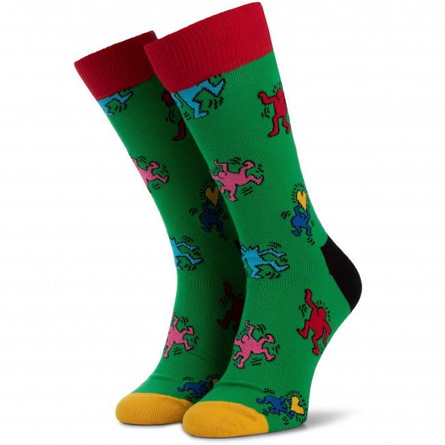 Unisex Donna 7300 Accessori Lunghi Tessili Keh01 Calzini Happy Verde Socks Multicolore GLMqSUpzV