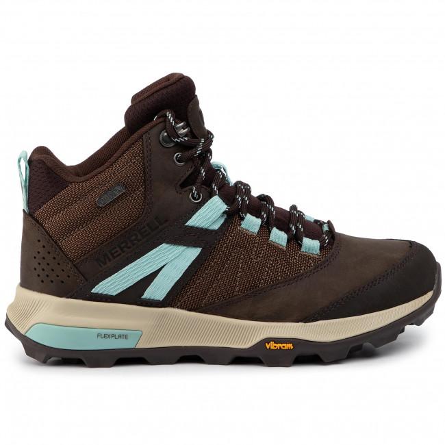 Scarpe da trekking MERRELL - Zion Mid Wp J99624 Seal Brown - Scarpe da trekking e scarponcini - Stivali e altri - Donna