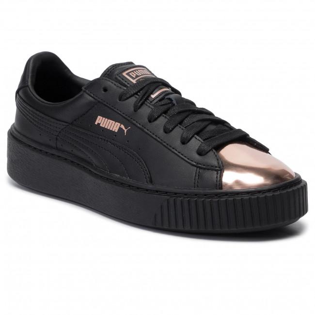 puma basket platform metallic scarpe da ginnastica basse