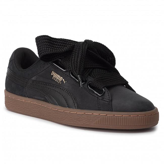 puma basket platform perf gum scarpe da ginnastica basse donna