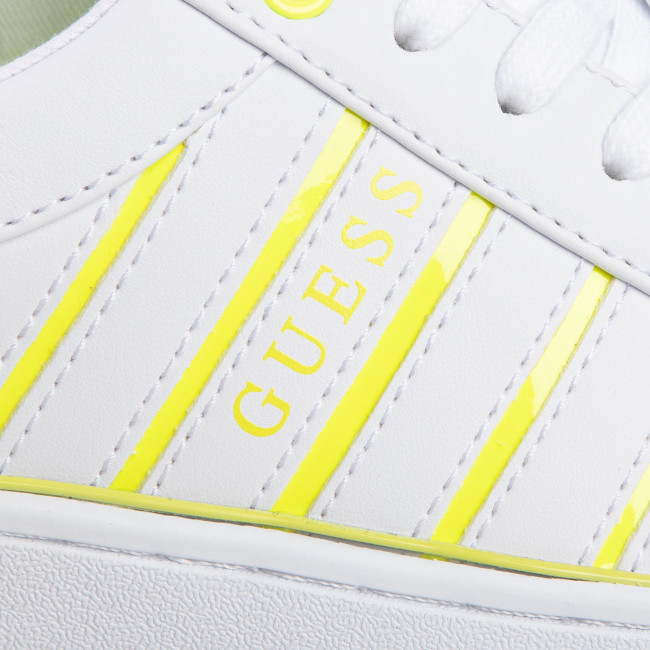 Sneakers GUESS - Bolier FL5BOL ELE12 WHITE/YELLOW - Sneakers - Scarpe basse - Donna
