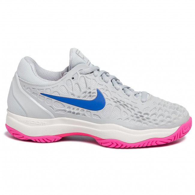 Scarpe NIKE Air Zoom Cage 3 Hc 918199 003 Pure PlatinumRacer Blue