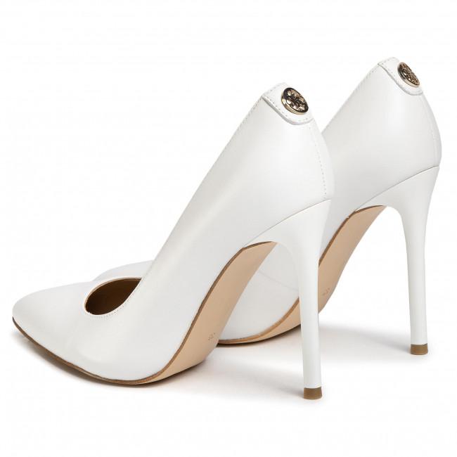 Scarpe stiletto GUESS - FL6CR 6LEA08 WHITE - Stiletti - Scarpe basse - Donna