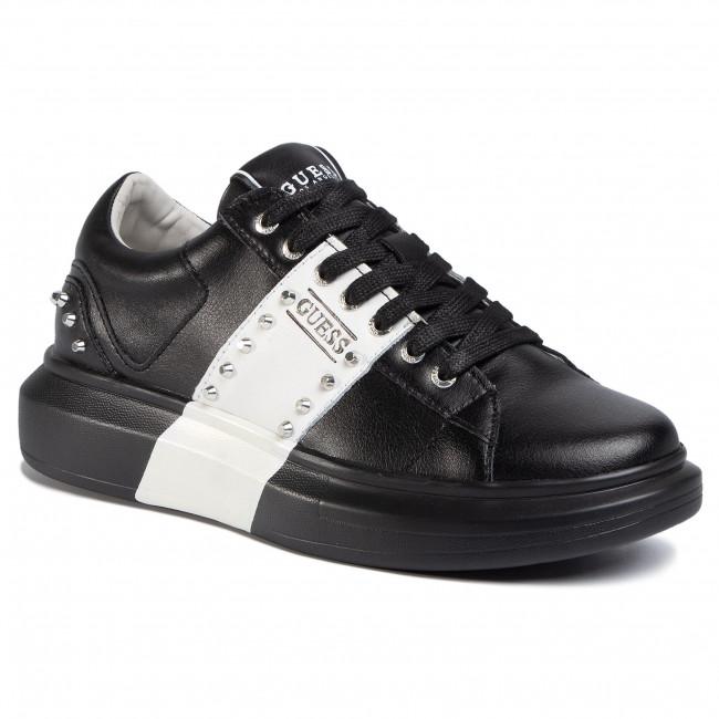 Sneakers GUESS Salerno II FM6SLR LEA12 BLKWH