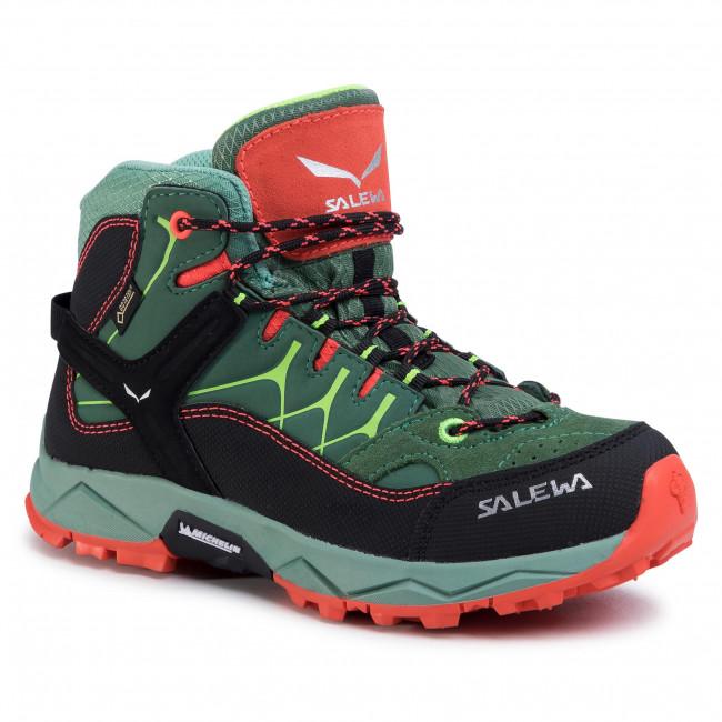 Scarpe da trekking SALEWA - Jr Alp Trainer Mid Gtx GORE-TEX 64006-5960 Myrtle/Tender Shot