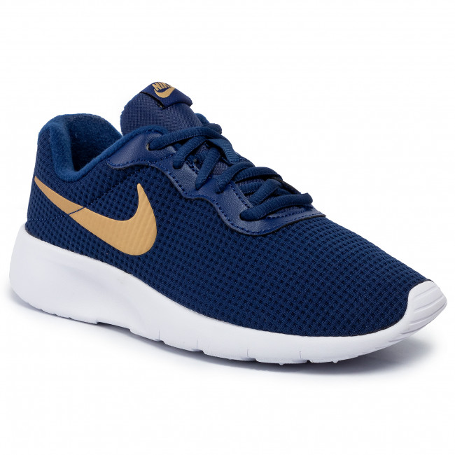 buy online 1e946 ee2db Scarpe NIKE - Tanjun (GS) 818381 406 Blue Void/Metallic Gold/White