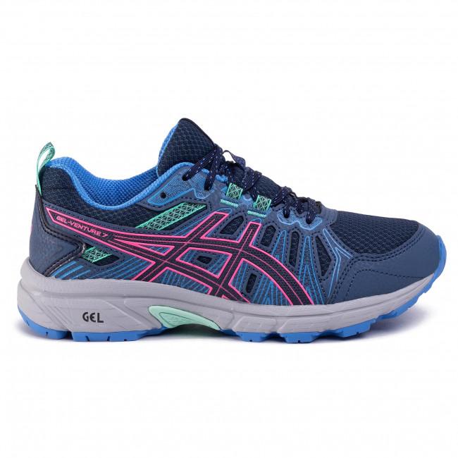 Scarpe ASICS - Gel-Venture 7 1012A476 Peacoat/Hot Pink 401 - Trail running - Running - Scarpe sportive - Donna