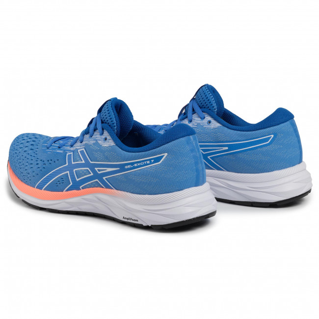 Scarpe ASICS - Gel-Excite 7 1012A562 Blue Coast/White 400 - Scarpe da allenamento - Running - Scarpe sportive - Donna