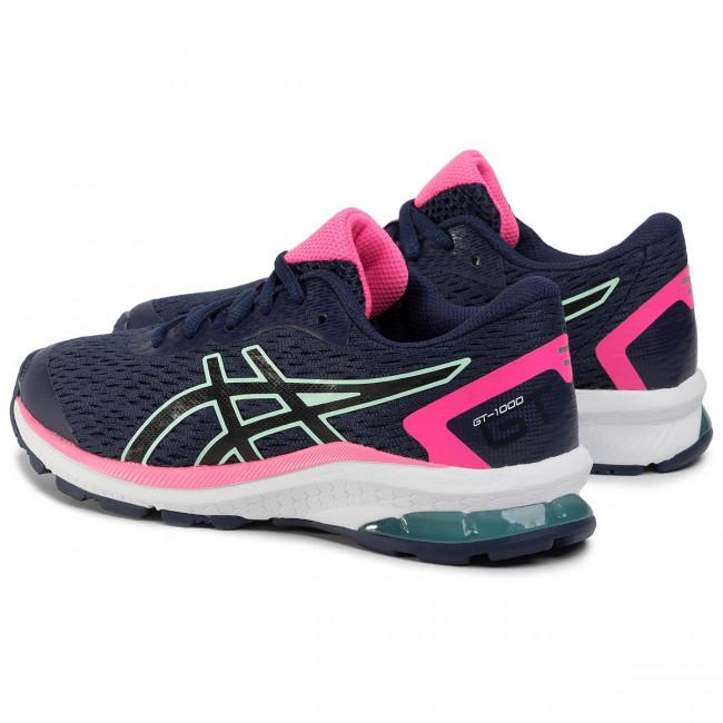 Scarpe ASICS - Gt-1000 9 Gs 1014A150 Peacoat/Black 400 - Scarpe da allenamento - Running - Scarpe sportive - Donna