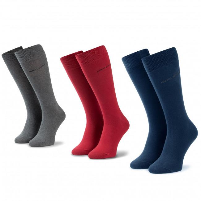 Set di 3 paia di calzini lunghi da uomo BOSS - 3P Rs Gift Set UniCc 50422005 963