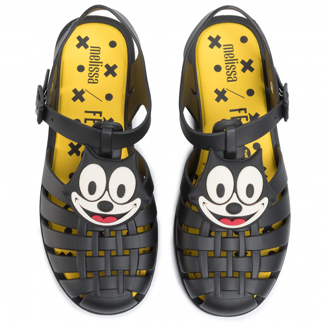 Sandali Melissa - Mini Possession + Gato Feli 32617 Black/yellow/white 53618 Da Giorno Ciabatte E Donna