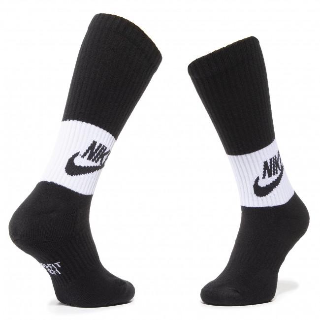 Set di 3 paia di calzini lunghi unisex NIKE SX6839 010 Nero