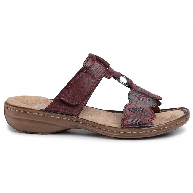 Ciabatte RIEKER - 608R4-35 Rot Kombi - Ciabatte da giorno - Ciabatte - Ciabatte e sandali - Donna