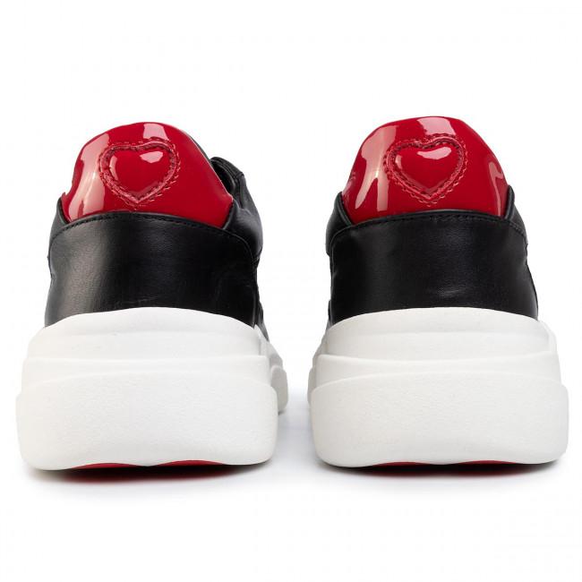 Sneakers LOVE MOSCHINO - JA15453G1AIQ400A Ne/Arge/Rosso - Sneakers - Scarpe basse - Donna