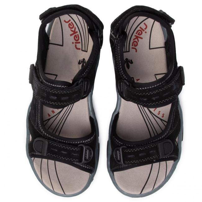 Sandali RIEKER - 68872-01 Schwarz - Sandali da giorno - Sandali - Ciabatte e sandali - Donna