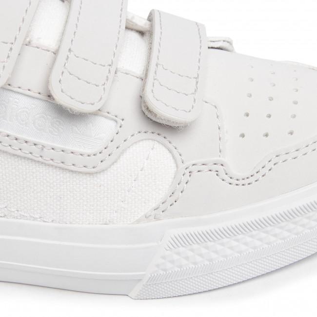 Scarpe Adidas - Continental Vulc Cf C Eg9096 Ftwwht/ftwwht/greone Con Strappi Basse Bambina Bambino