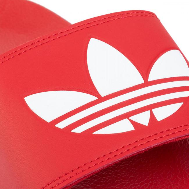 Ciabatte Adidas - Adilette Lite J Fu9179 Scarle/ftwwht/scarle Da Piscina E Spiaggia Sandali Donna