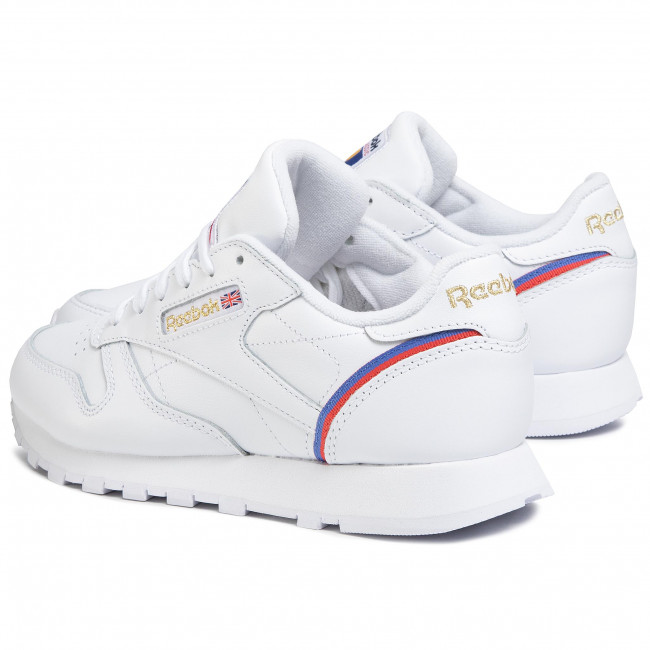 Sneakers Reebok - Cl Lthr EG5975 White/Radred/Blubla - Sneakers - Scarpe basse - Donna