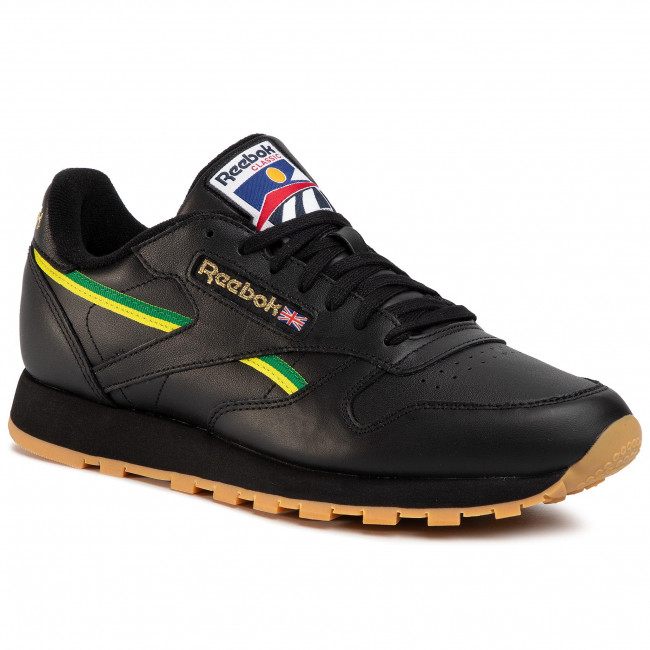 Scarpe Reebok - Cl Leather Mu EG6423 Black/Basgrn/Heryel