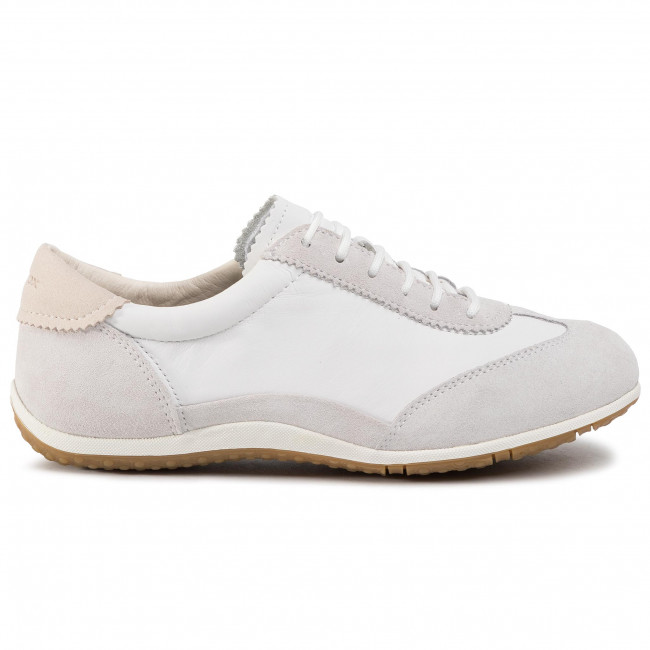 Sneakers GEOX - D Vega A D0209A 02285 C1209 Off White/White - Sneakers - Scarpe basse - Donna