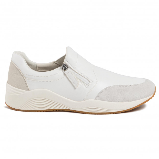 Geox D Avery C Mocassini, Donna, Bianco (WhiteOff White