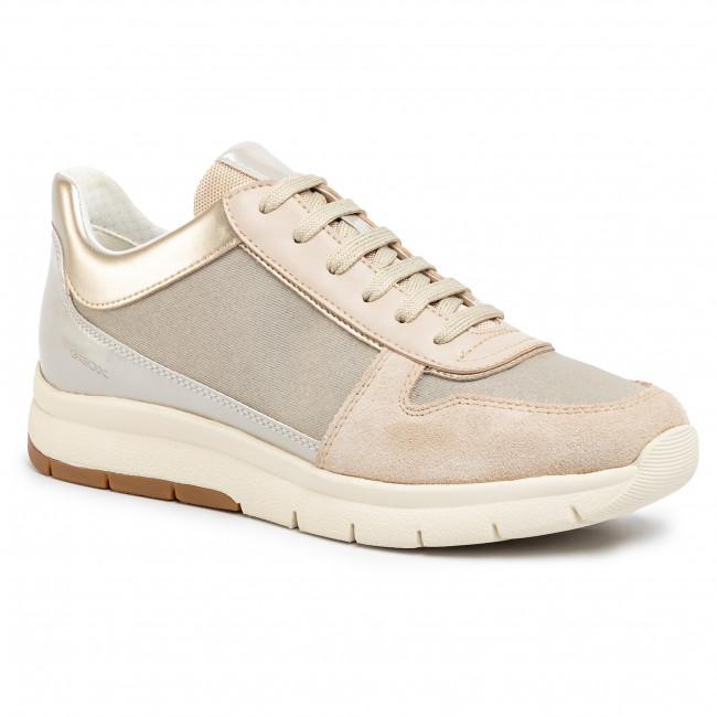 Sneakers GEOX D Callyn B D029GB 0EWHI C0423 BeigeCream
