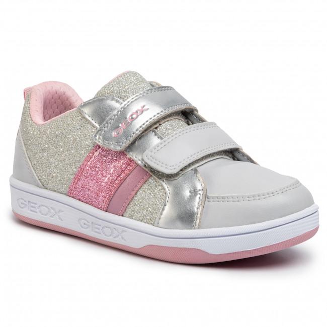 Sneakers GEOX J Maltin G. A J0200A 0NFKC C1028 S Lt Grey Lt Pink