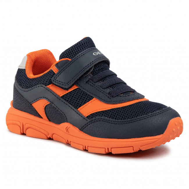 GEOX SHUTTLE VELCRO LEATHER TRAINER