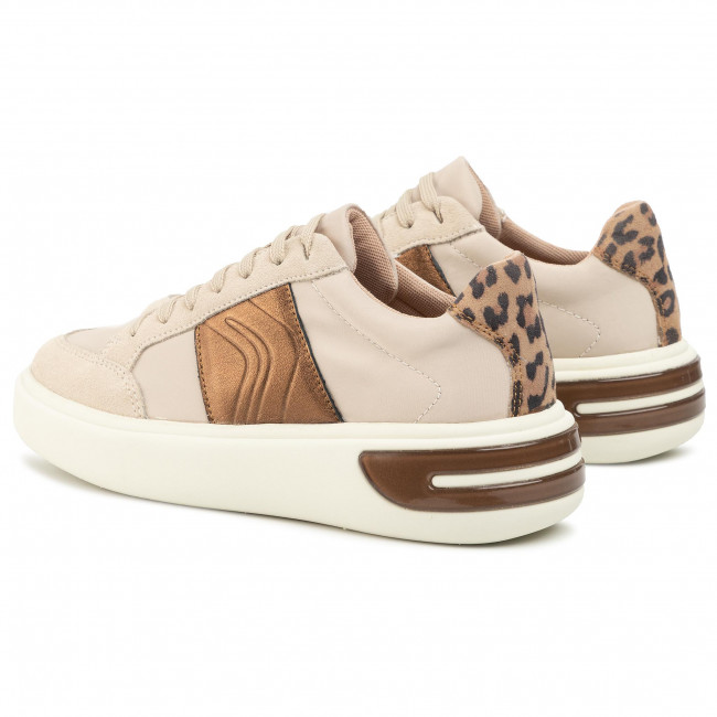 Geox D OTTAYA PrimaveraEstate CREAMBRONZE 45 cm Sneakers
