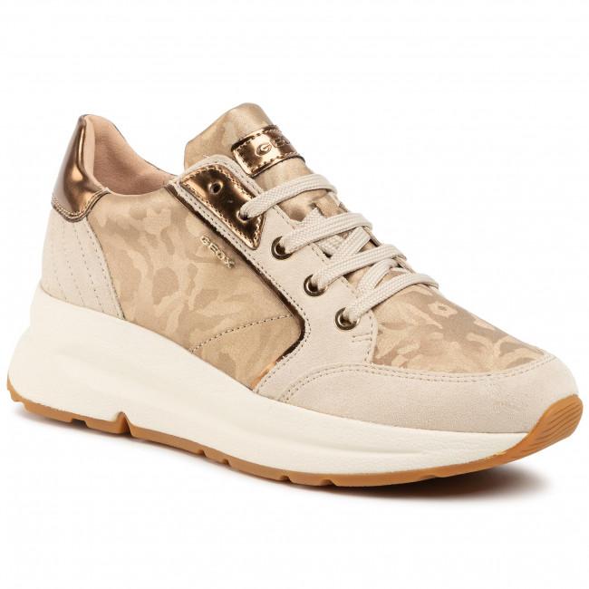 Sneakers GEOX D Backsie A D94FLA 06P22 C2268 GoldCream