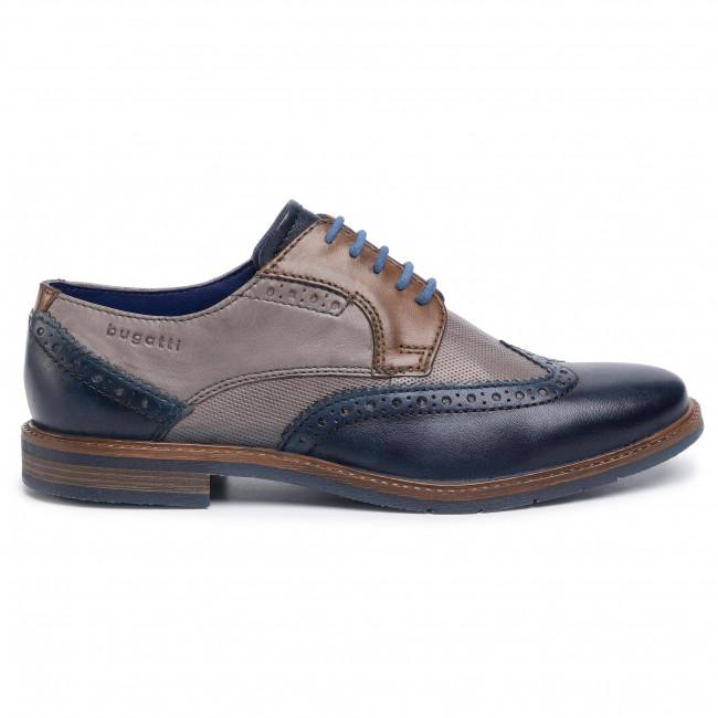 Scarpe basse BUGATTI - 311-80101-1412-4163 Dark Blue/Cognac - Da giorno - Scarpe basse - Uomo