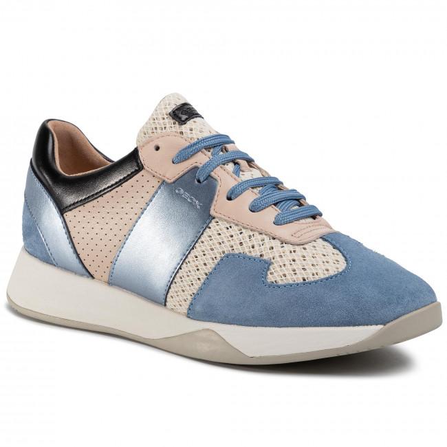 Sneakers GEOX D Suzzie B D94FRB 01422 C0160 Off WhiteLt Blue