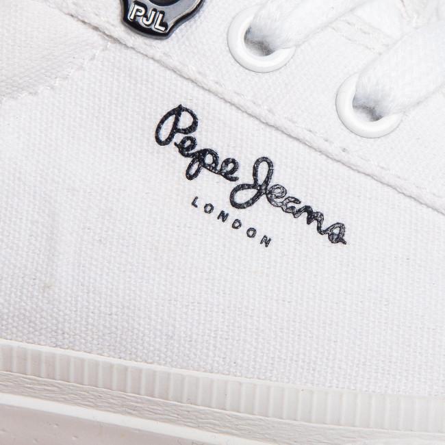 Scarpe sportive PEPE JEANS - Kenton Basic Boy PBS30444 White 800 - Scarpe da ginnastica - Scarpe basse - Donna
