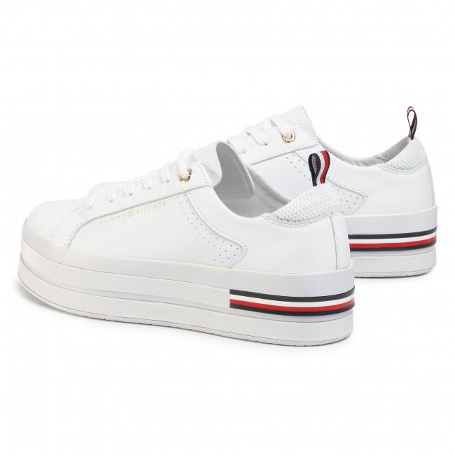 Sneakers TOMMY HILFIGER Modern Flatform Sneaker FW0FW04851 White YBS