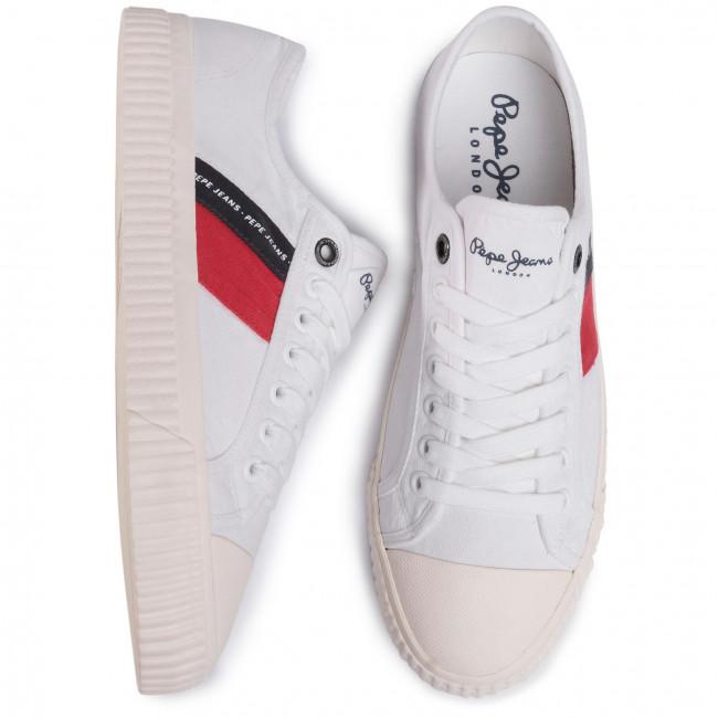 Scarpe da ginnastica PEPE JEANS - Malibu Summer PMS30631 White 800 - Scarpe da ginnastica - Scarpe basse - Uomo
