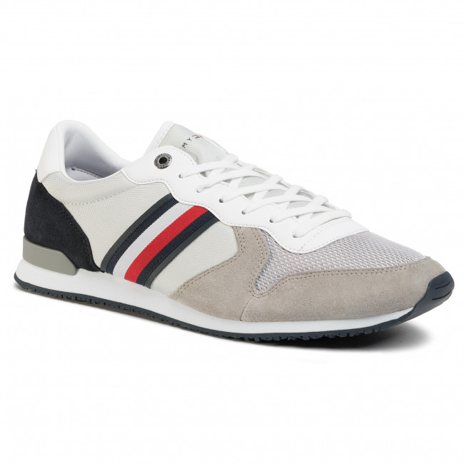Sneakers TOMMY HILFIGER - Iconic Material Mix Runner FM0FM02667 Antique Silver PRT