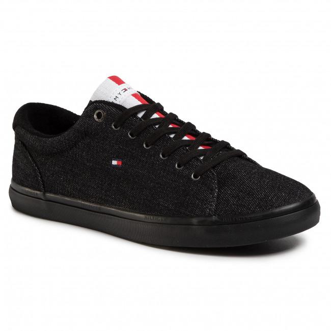 Scarpe sportive TOMMY HILFIGER Essential Long Lace Sneaker FM0FM02684 Black BDS