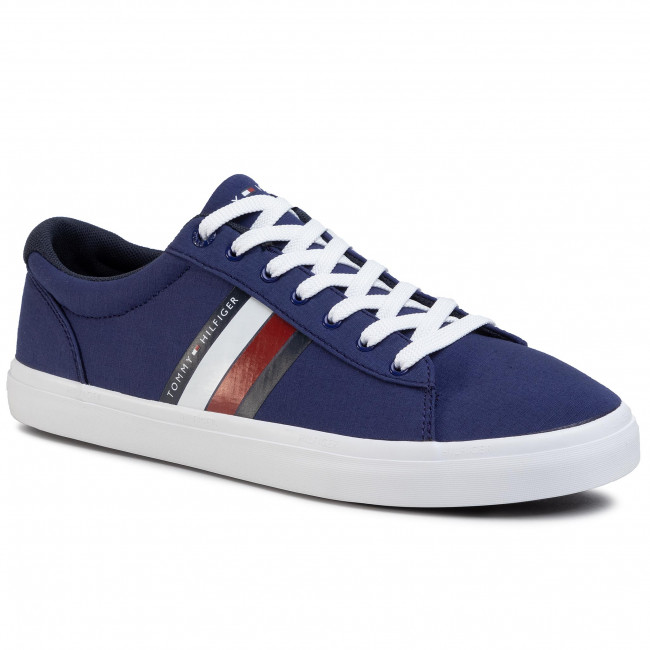 Scarpe sportive TOMMY HILFIGER Essential Stripes Detail Sneaker FM0FM02685 Blue Ink C7H